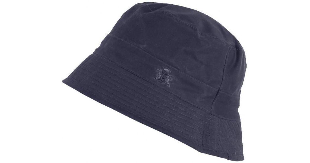 a93f7a31 Baracuta Men's Made In England Oilskin Wax Bucket Hat in Blue for Men - Lyst