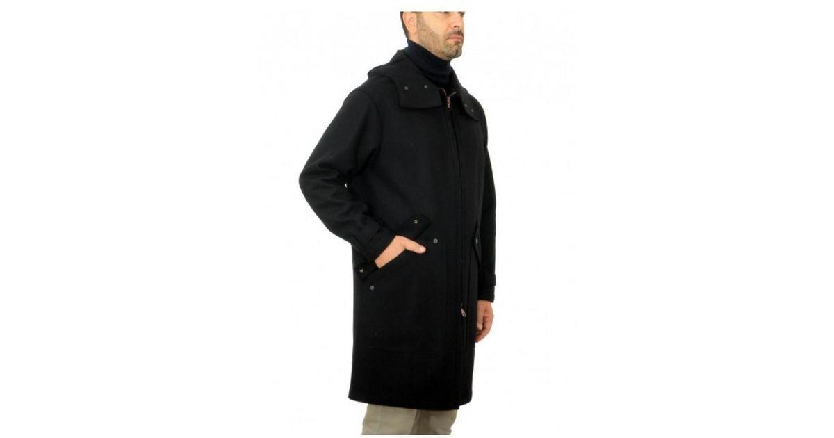 quality design 2b85f 7e814 Paltò - Black ' Cappotto Uomo RUGGERO Felt Nero - Lyst