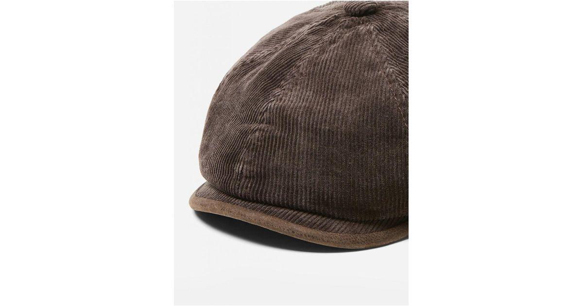 b5c4c97f2 Stetson Brown Hatteras Corduroy Newsboy Cap (cotton) for men