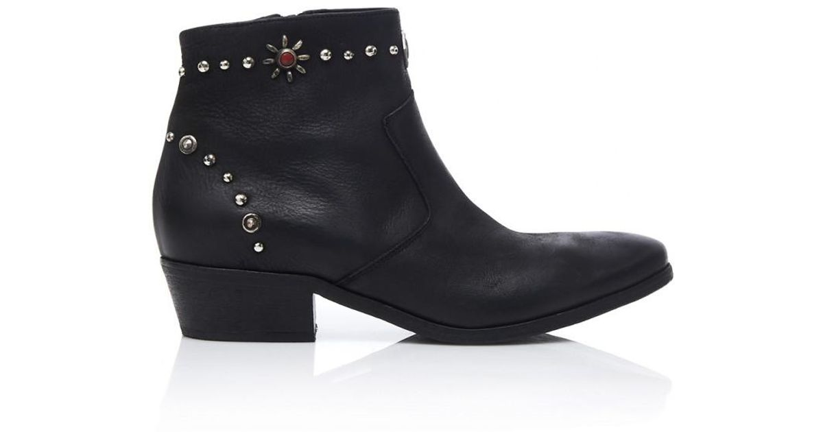 44a6e3f2382 Strategia - Osaka Texano Boots In Black - Lyst