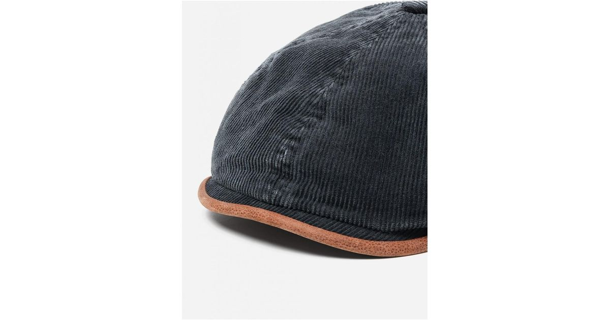 59e1e0085 Stetson Black Hatteras Corduroy Newsboy Cap (cotton) for men