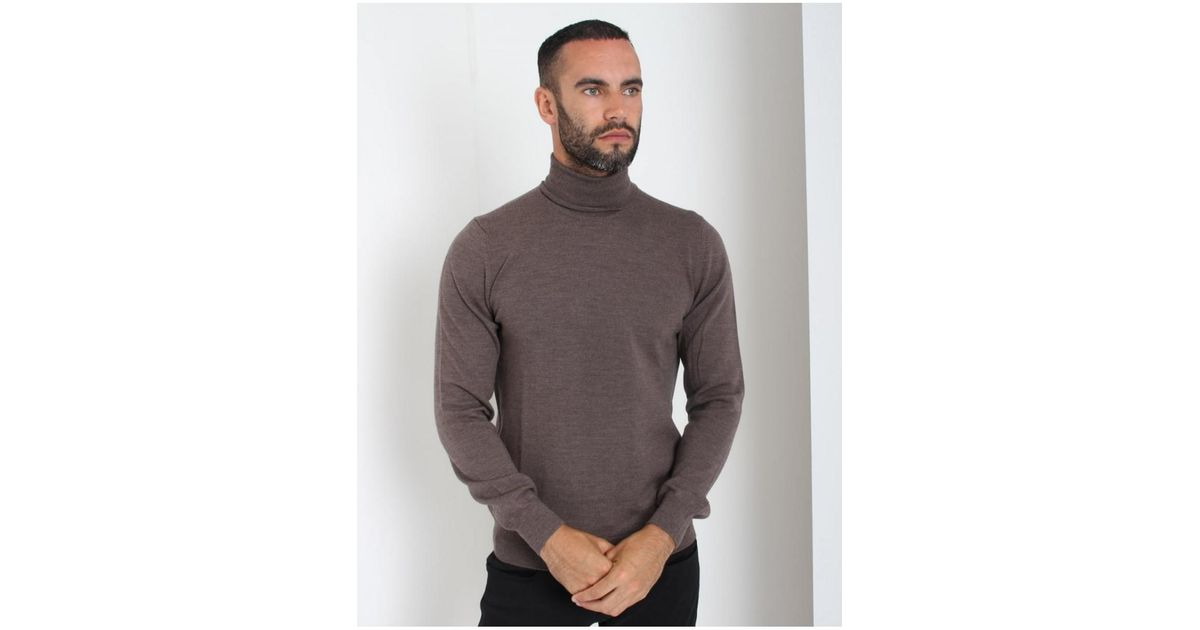 e784a6a5791f Lyst - J.Lindeberg J.lindeberg Sargon True Merino Wool Knit Polo Neck Jumper  in Blue for Men