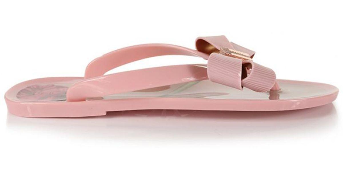 e654a3b06 Ted Baker Women s Susziep Flip Flops in Pink - Lyst