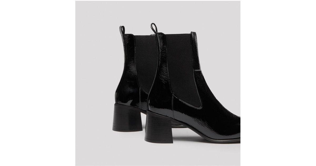 396370e4f99 E8 By Miista Tea Black Patent Leather Boots in Black - Lyst