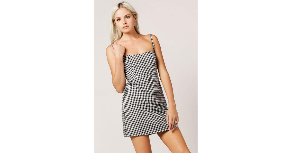 309498d02e1 Azalea Gingham Cami Dress in Black - Lyst
