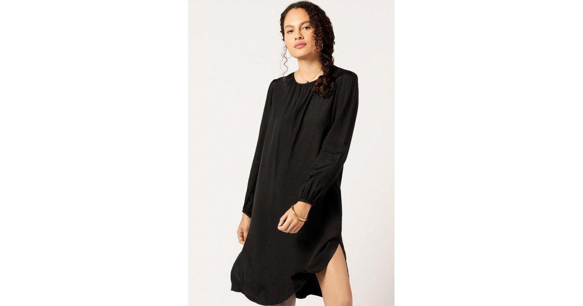 lyst a p c robe elsa dress in black. Black Bedroom Furniture Sets. Home Design Ideas