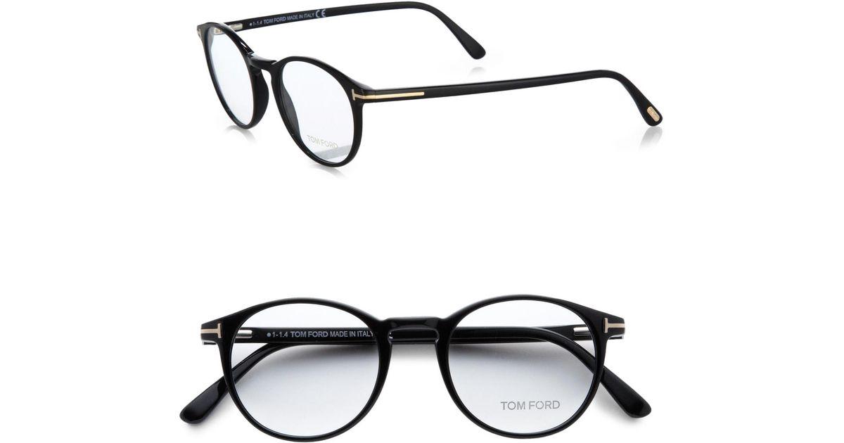 2c9c47781484 Lyst - Tom Ford 5294 Vintage Round Optical Frames in Black for Men
