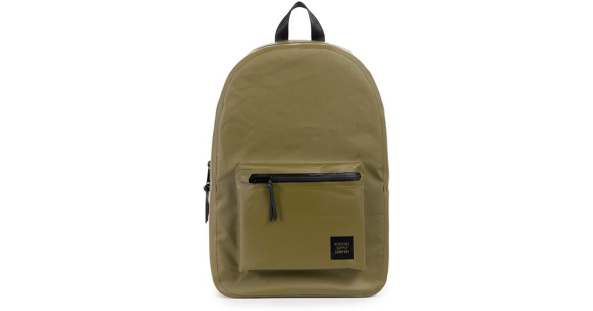 Lyst - Herschel Supply Co.  settlement - Studio Collection  Water Resistant  Tarpaulin Backpack in Green for Men 56c5ab254dd98