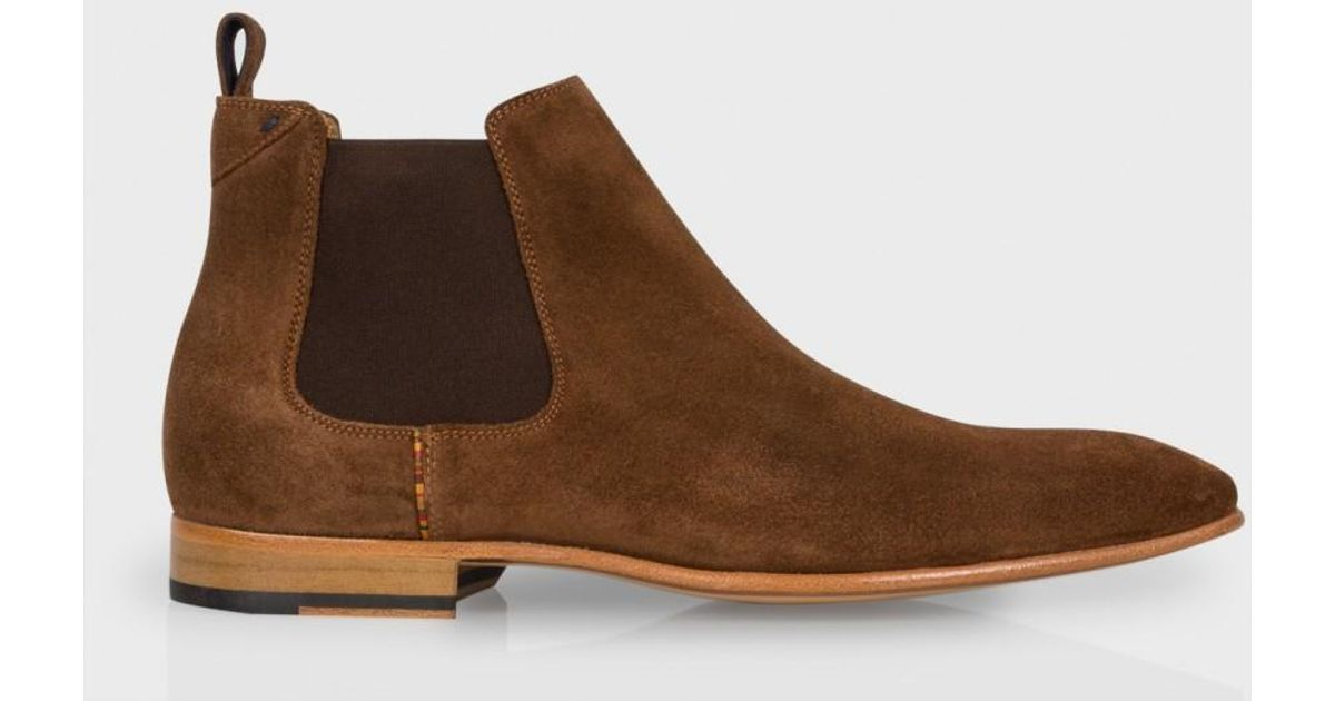 9bfb143a2760 Paul Smith Men's Brown Suede 'falconer' Chelsea Boots in Brown for Men -  Lyst