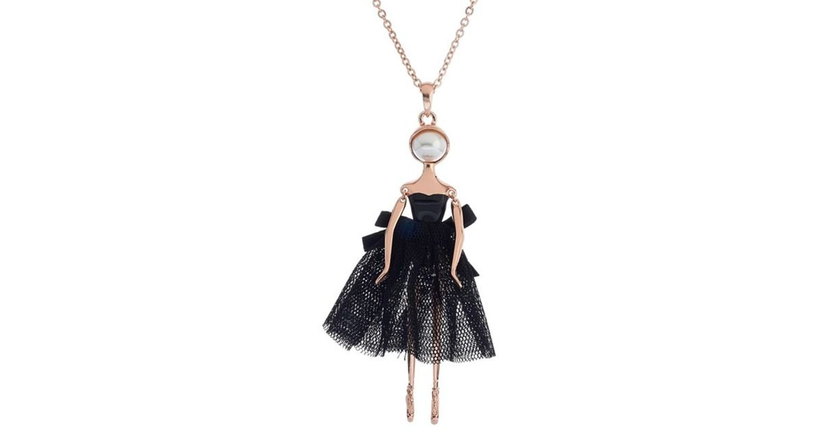 Lyst ted baker claraa ballerina pendant necklace in pink mozeypictures Image collections