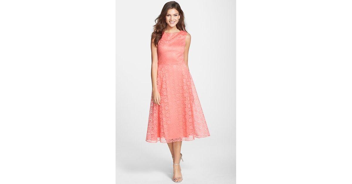 Lyst Betsey Johnson Lace Midi Fit Flare Dress