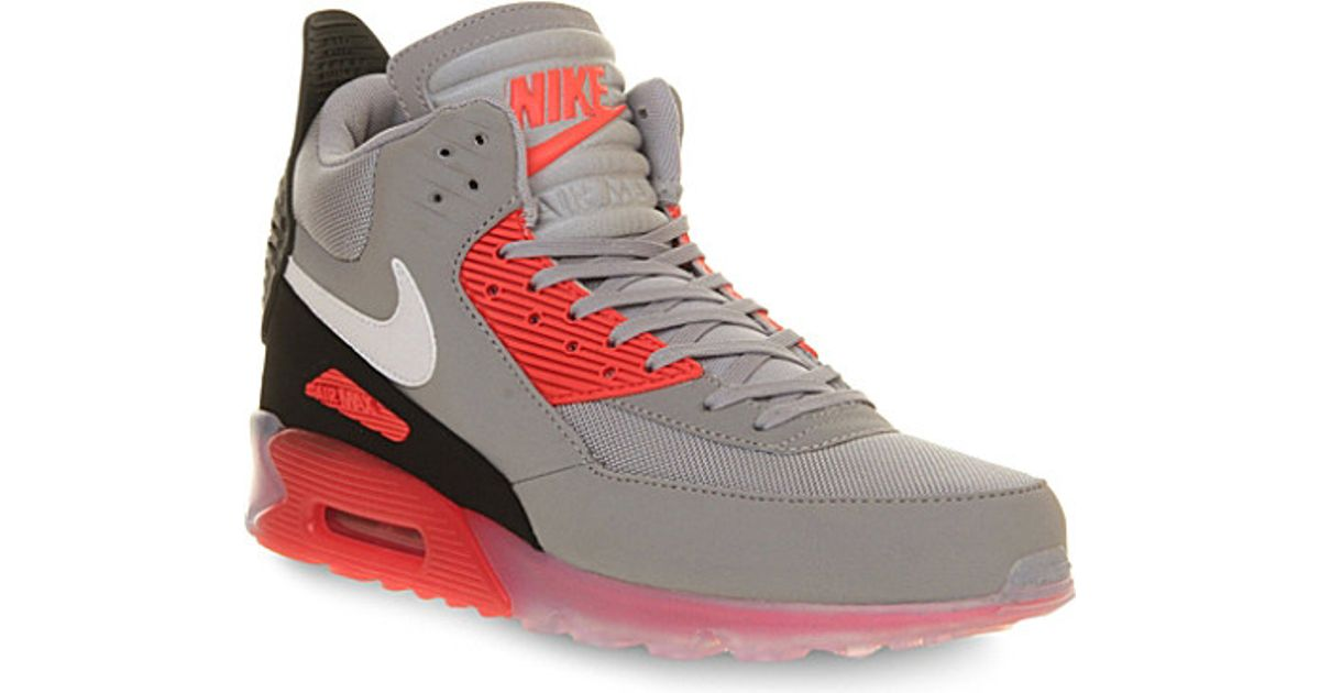 aa6133e47800 ... sale nike air max 90 high top trainers for men in gray for men lyst  85cbc