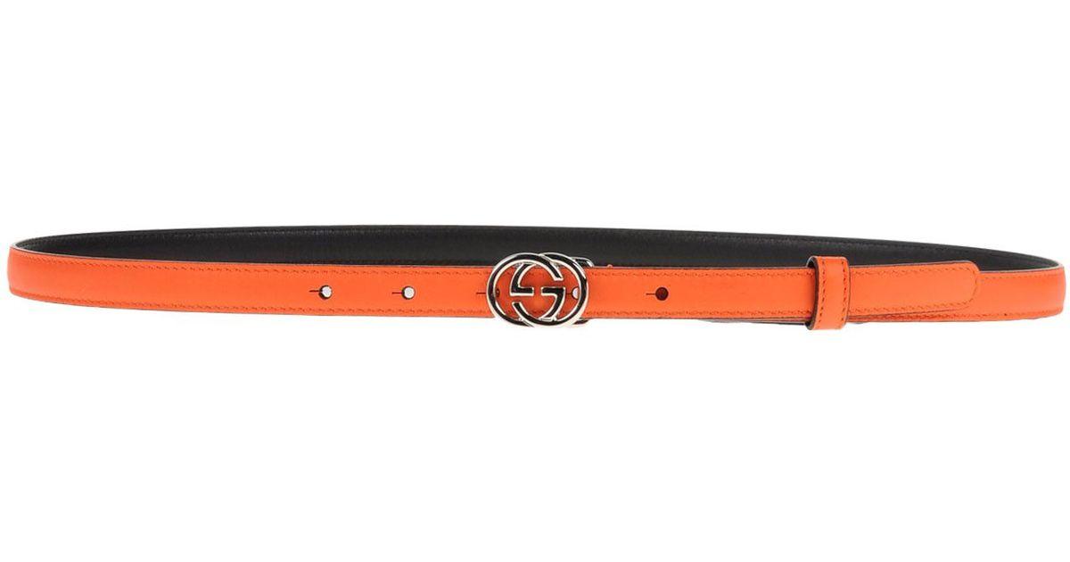 84141fcf051 Lyst Gucci Interlocking G Buckle Leather Belt In Orange For Men. Lyst Gucci  Belt In Orange