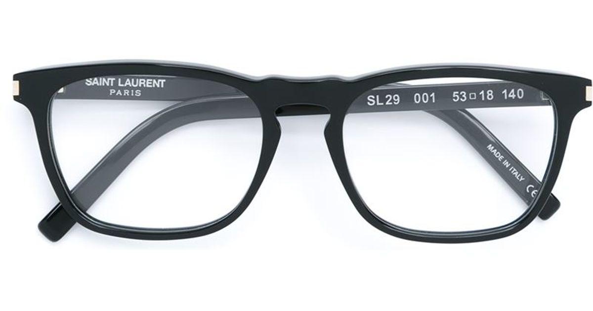 Saint laurent Rectangular Frame Glasses in Black for Men ...