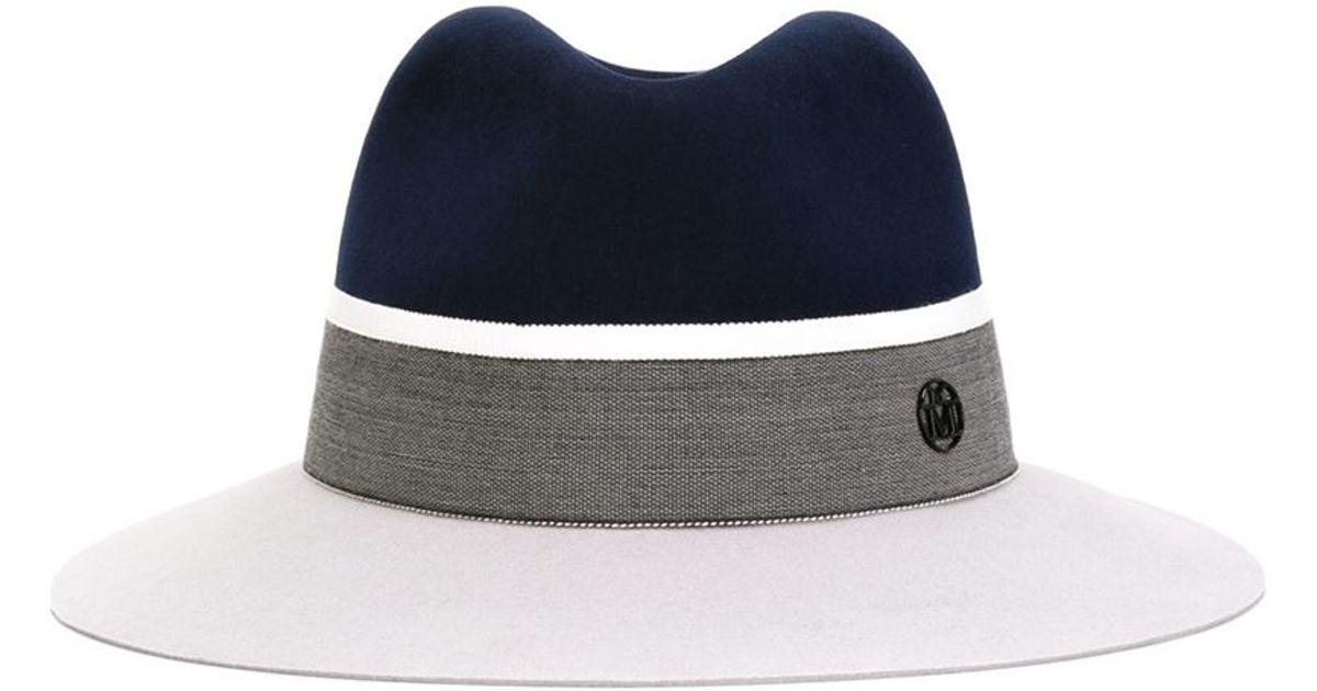 c6f43e0a24c1e Lyst - Maison Michel Two-tone Fedora Hat