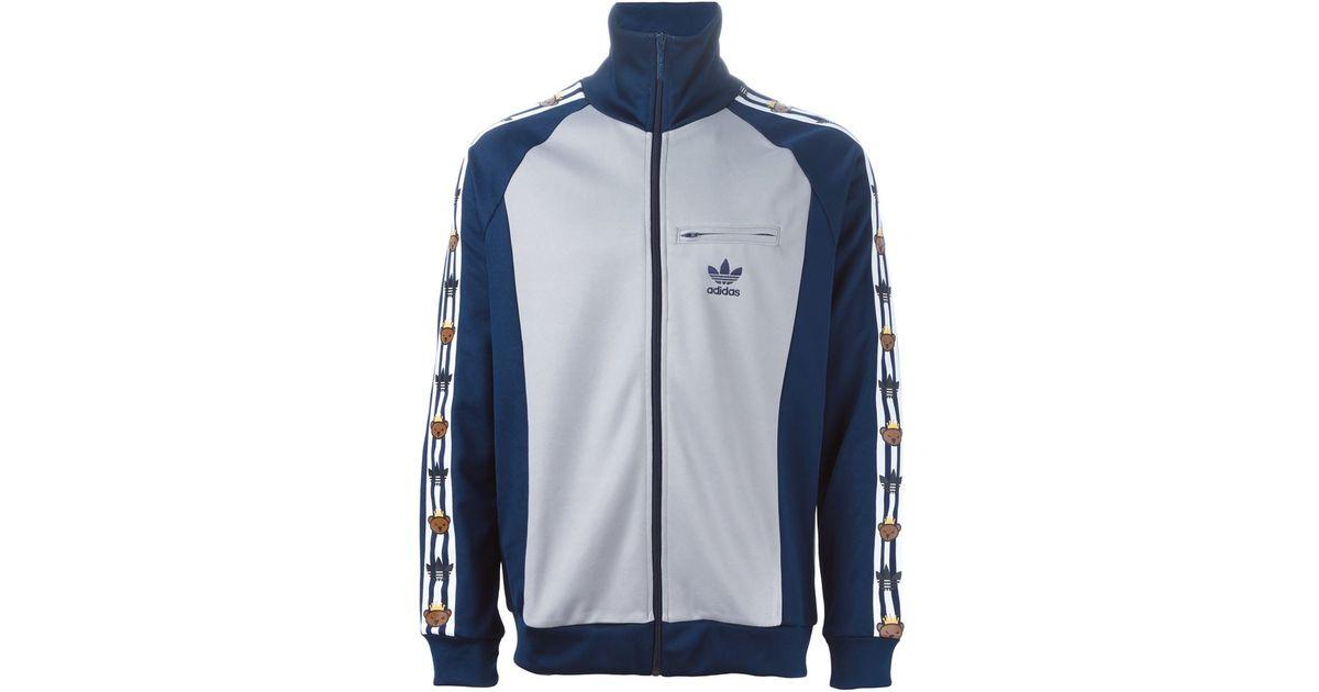 6af21cea1912 adidas Originals Adidas Original X Nigo Bear Printed Sport Jacket in Blue  for Men - Lyst