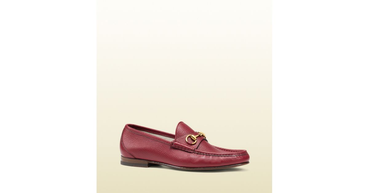 236ac0e77c0 Lyst - Gucci 1953 Horsebit Loafer In Leather in Red for Men