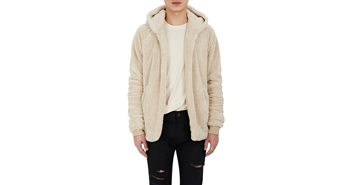 0d4e2f96 Fear Of God Men's Sherpa Hoodie in Natural for Men - Lyst