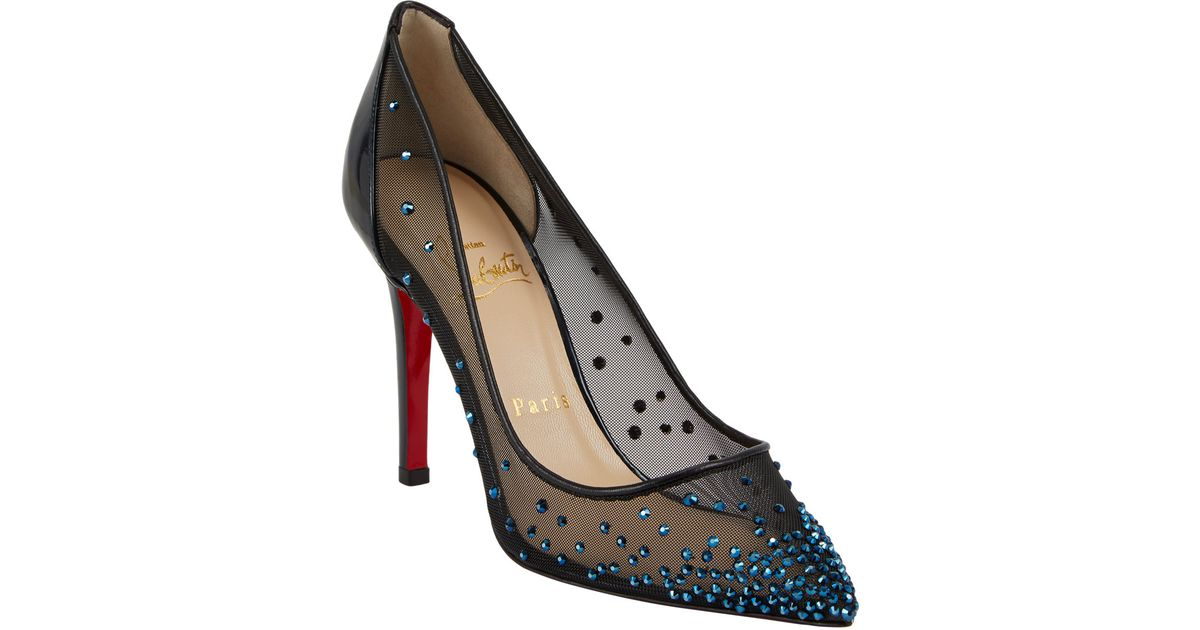 christian louboutins for men - Christian louboutin Body Strass Jeweled Pumps in Animal (Blue) | Lyst