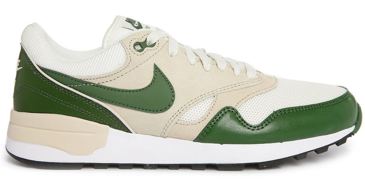 nike air odyssey white green sneakers in green for
