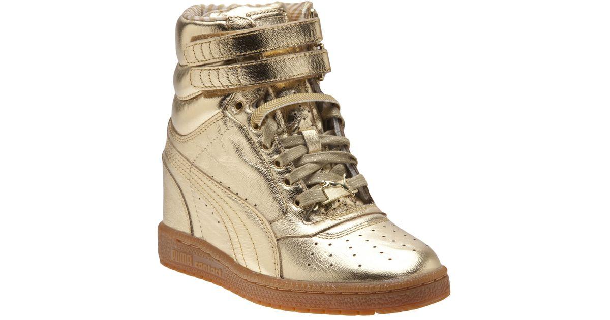 600a12e53d46 Lyst - PUMA Sky Wedge Sneaker in Metallic