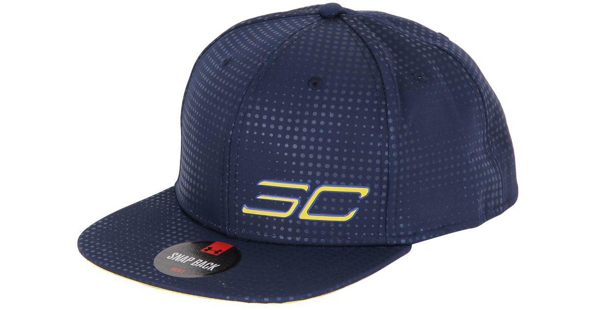 384ada730e0 ... australia under armour steph curry snapback basketball hat in blue for  men lyst 84d40 b50da