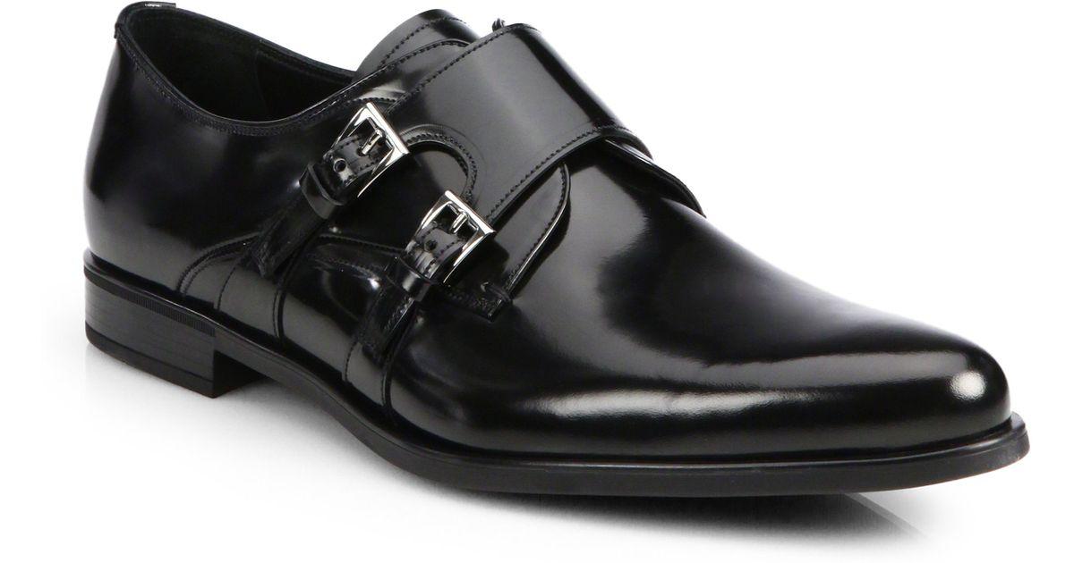 Cuir Chaussures Pour Hommes Moine-sangle De Prada d4az2WqT