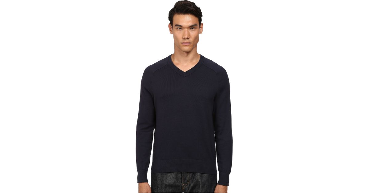 Jack spade Dexler Cotton V-neck Sweater in Blue for Men | Lyst