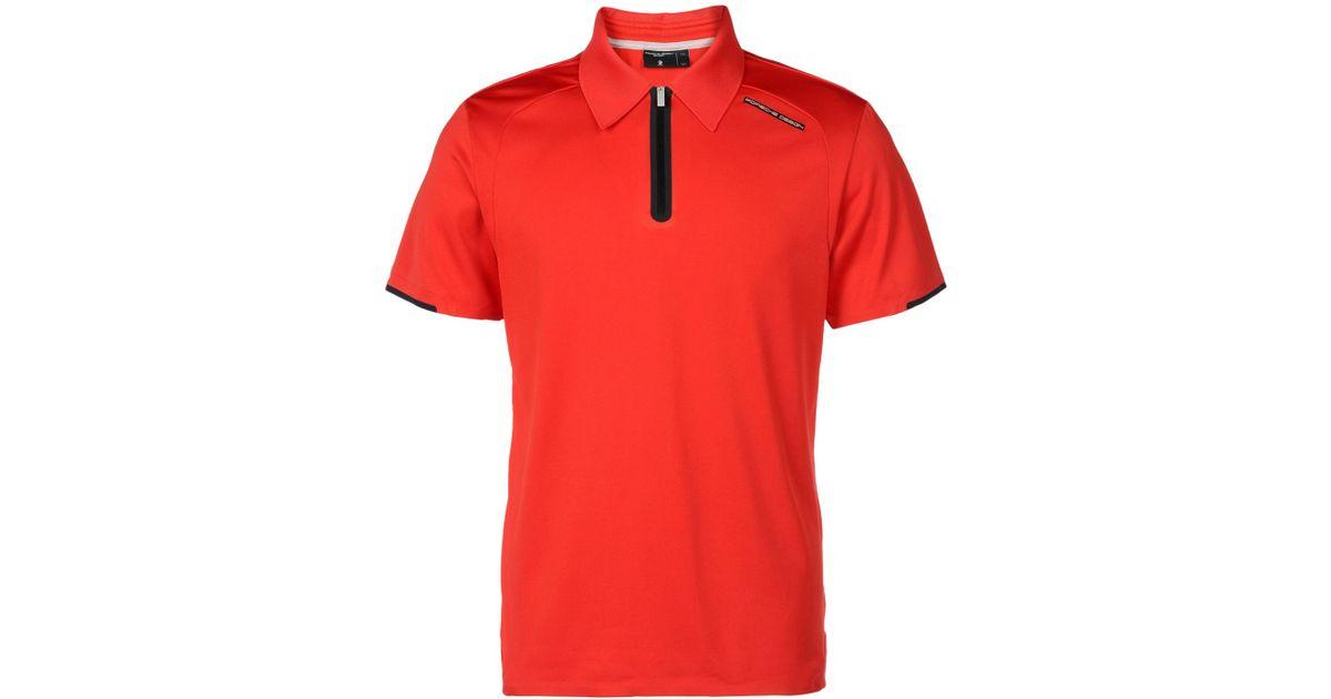 porsche design polo shirt in red for men lyst. Black Bedroom Furniture Sets. Home Design Ideas