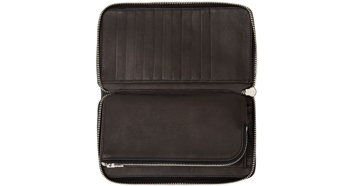 Rick Owens Medium Zipped Leather Wallet Low Shipping Online KwBGpY4Qk