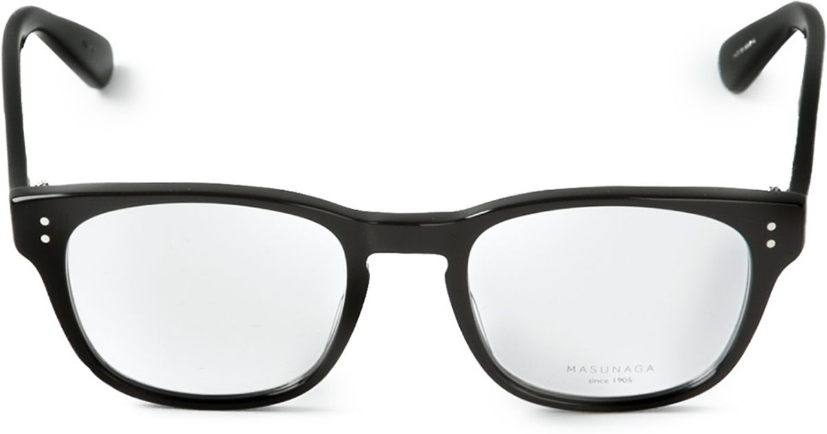 Lyst - Masunaga Wayfarer Frames in Black for Men