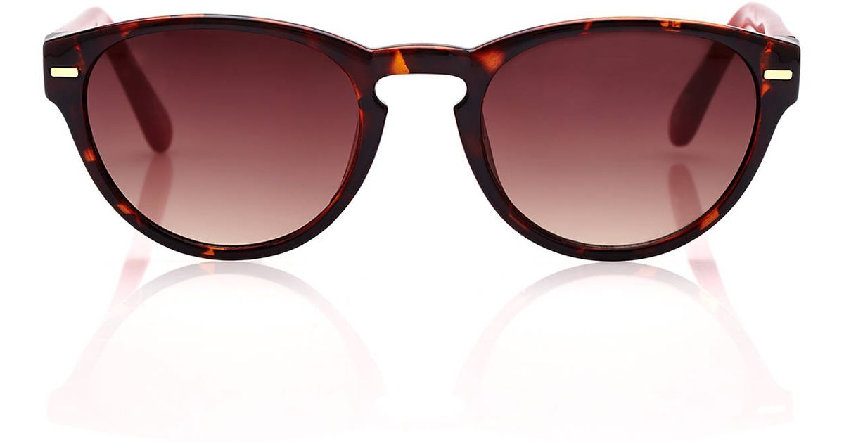 red wayfarer sunglasses s0zc  Cole haan C6089 Tortoiseshell-Look & Red Wayfarer Sunglasses in Brown  Lyst