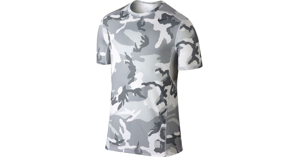 ce5e606bf2c0c Nike Hypercool Dri-fit Camo T-shirt in Gray for Men - Lyst