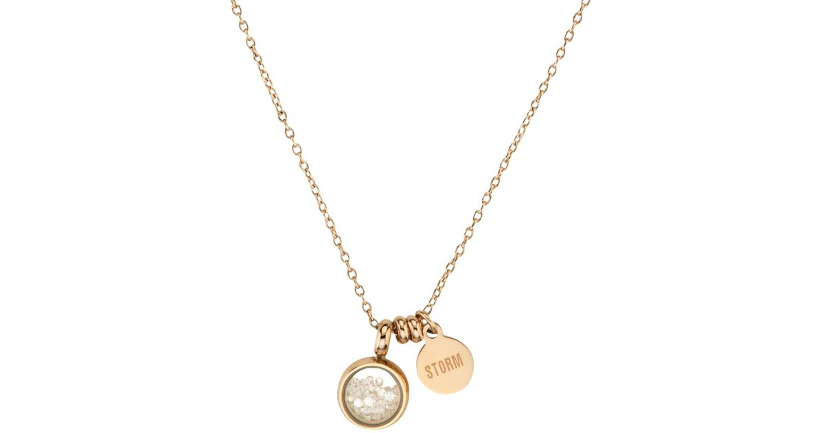 gold mimi necklace in metallic lyst