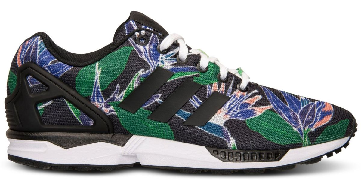 ff24925a433e ... germany lyst adidas mens zx flux floral print casual sneakers from  finish line for men b1e8d