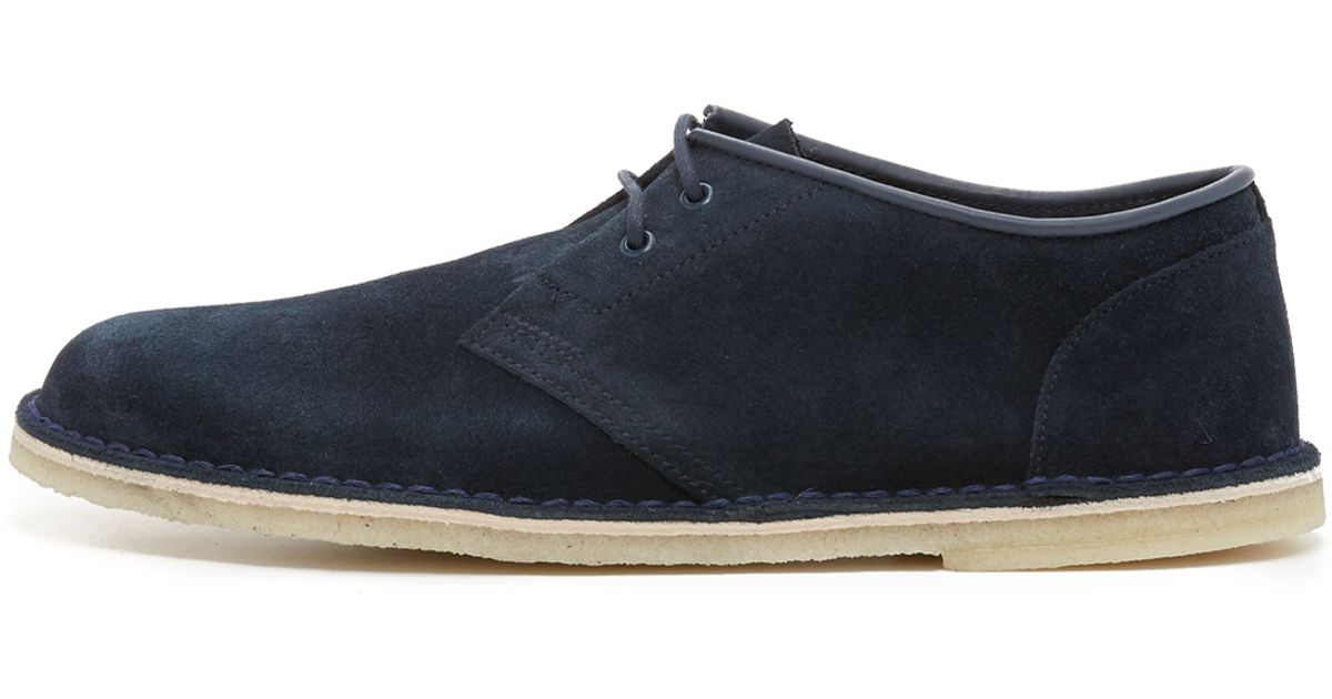 clarks suede jink shoes in blue for save 30 lyst