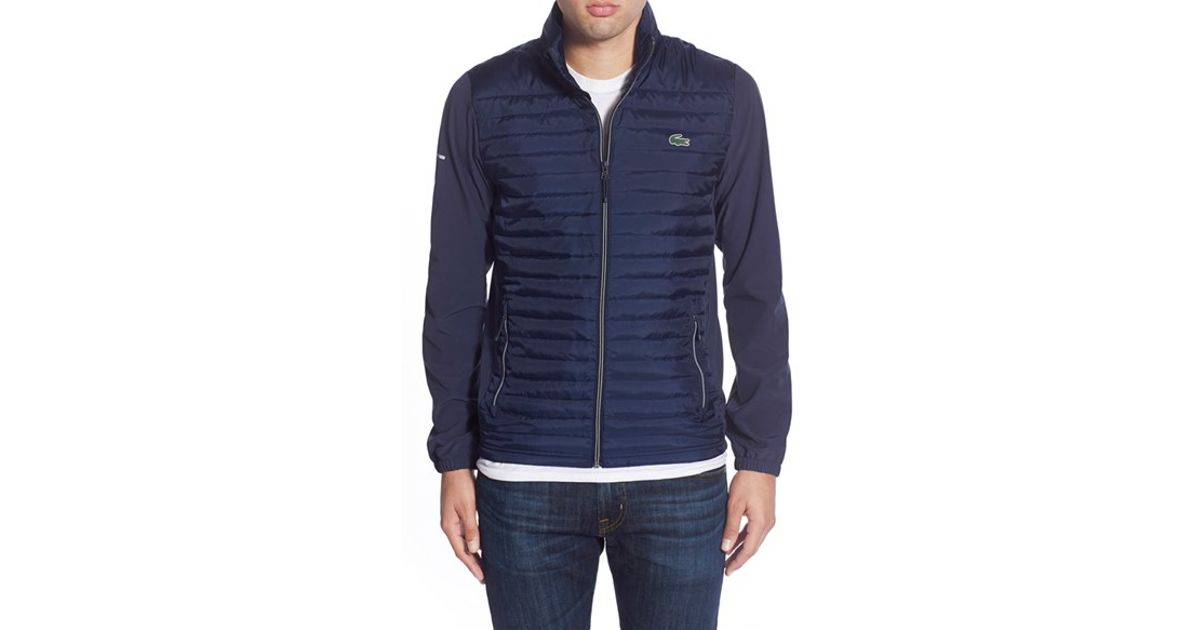 73acfcd8 Lacoste Quilted Golf Jacket in Blue for Men - Lyst