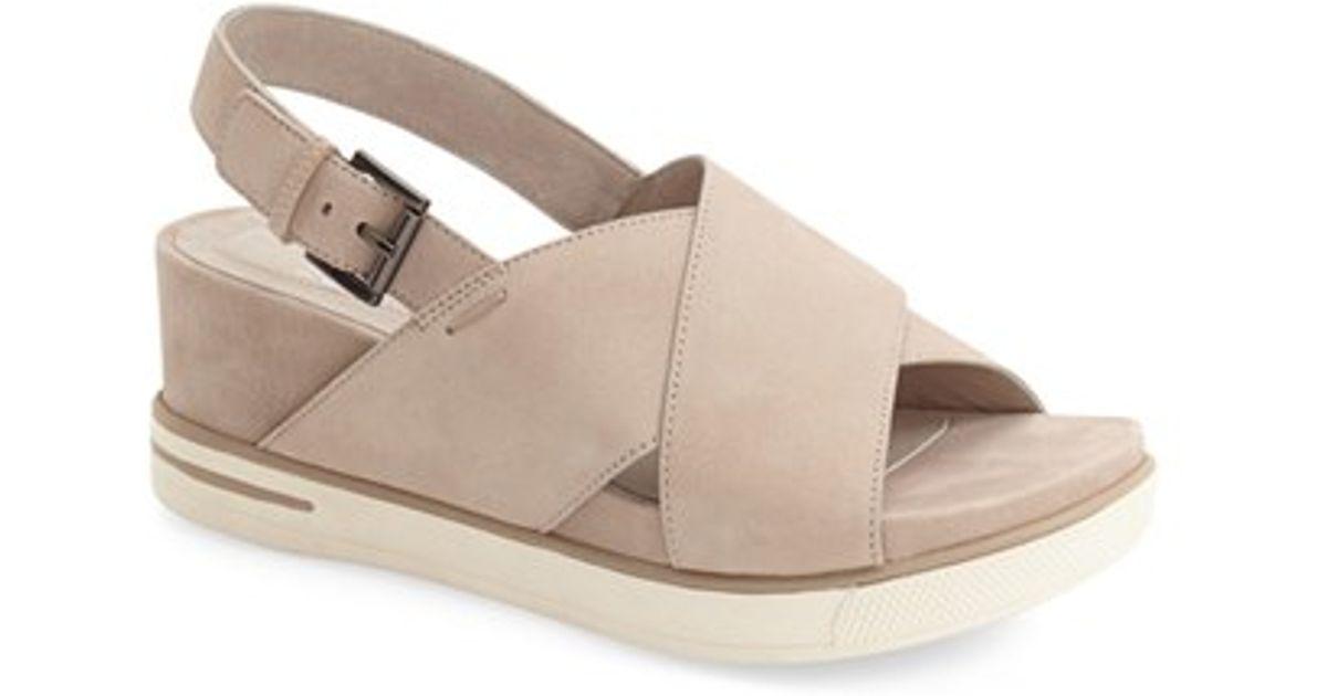 8ce2d64e5a15 Lyst - Eileen Fisher  good  Crisscross Platform Wedge Sandal in Natural