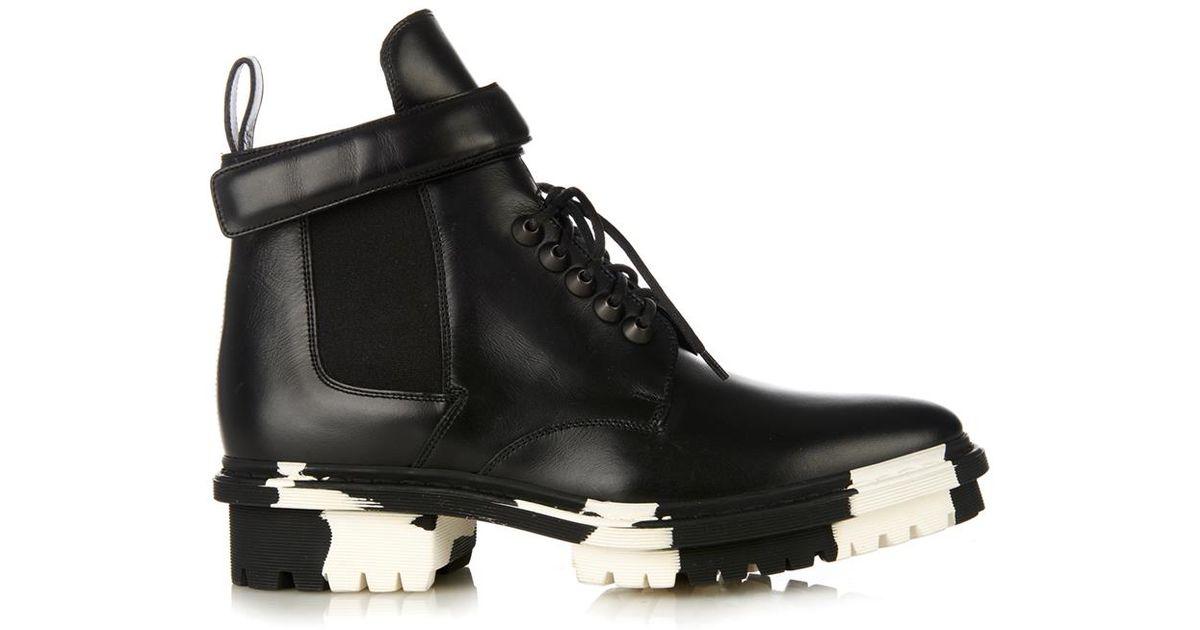 44ecd8f1c7228 Balenciaga Unit Leather Biker Ankle Boot in Black - Lyst