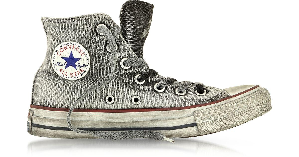 8092d8f12987 Converse All Star High-Top Smoke Canvas Ltd Sneaker in Gray - Lyst
