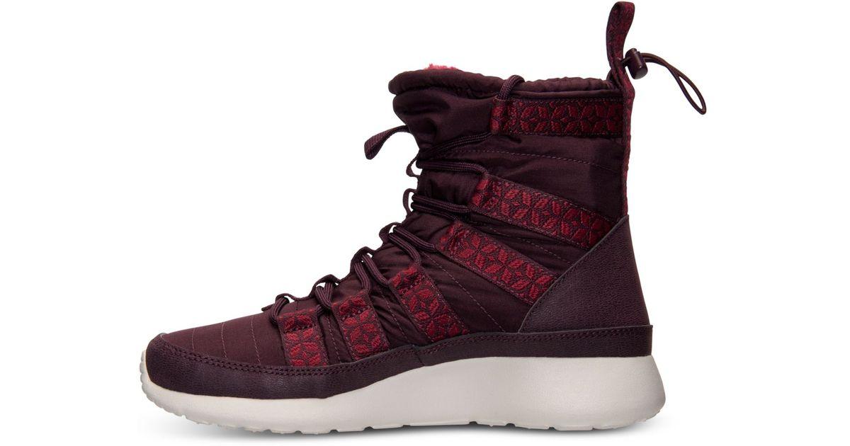promo code 7c618 7880d Nike Women S Roshe Run Hi Sneakerboots From Finish Line in Purple - Lyst