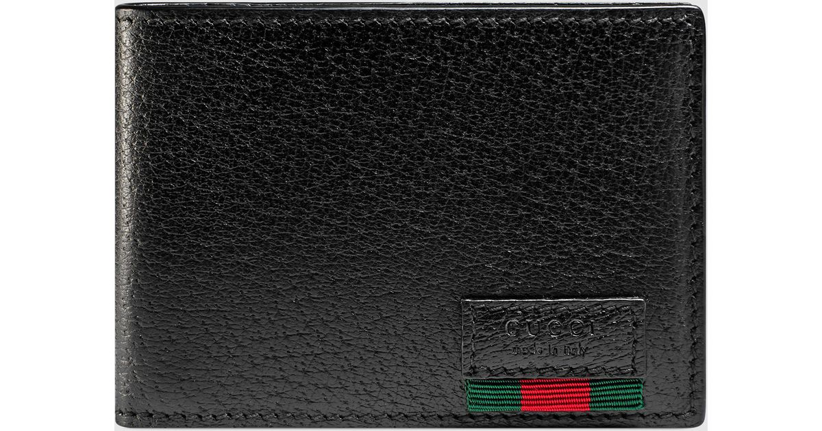 149097a2b015d4 Gucci Leather Bi-fold Wallet With Web | Stanford Center for ...