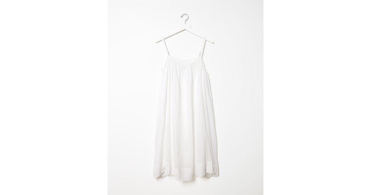 Lyst - Dosa Chemise Slip Dress in White
