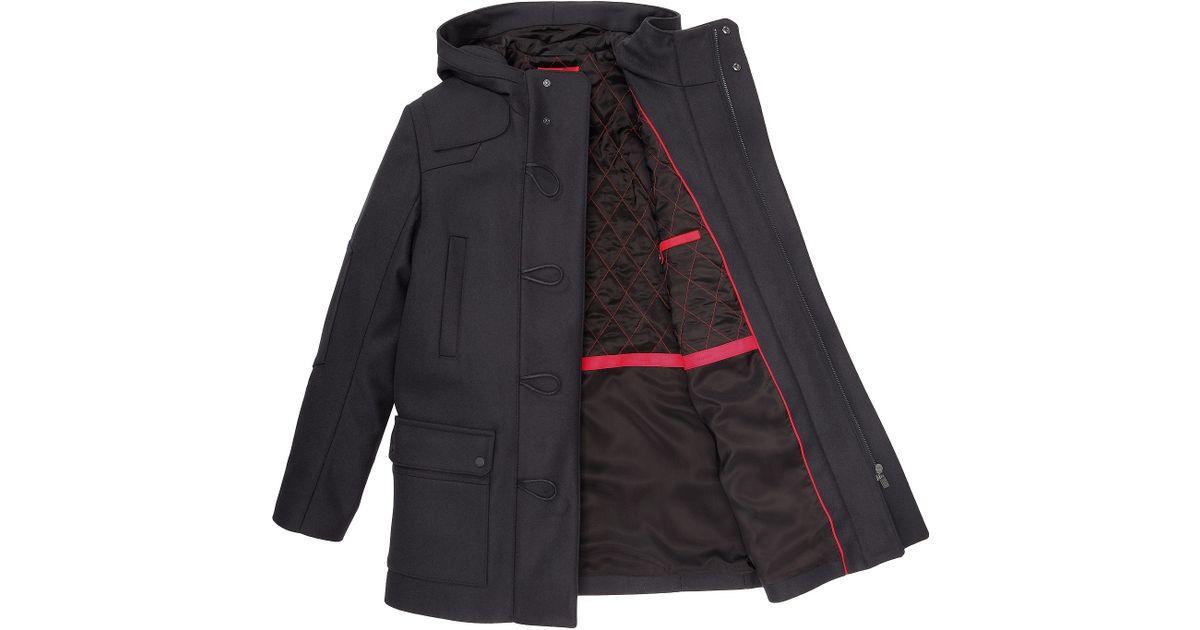 1c44769c117 HUGO Duffle Coat  Melrik  In A New-Wool Blend in Blue for Men - Lyst