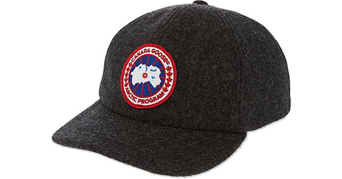 0bb07e29408 Canada Goose Merino Wool Baseball Cap in Gray for Men - Lyst