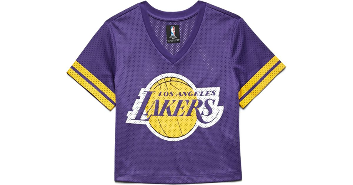 760c33b8 Forever 21 Los Angeles Lakers Jersey Top in Purple - Lyst