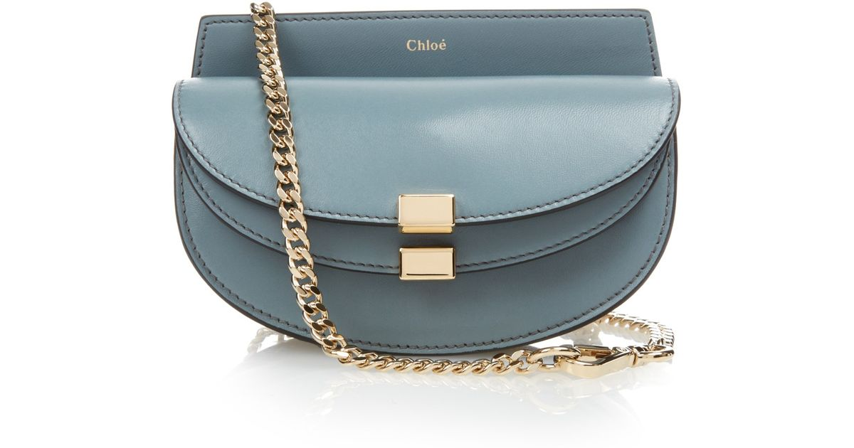 Chlo�� Georgia Leather Cross-body Bag in Blue (LIGHT BLUE) | Lyst