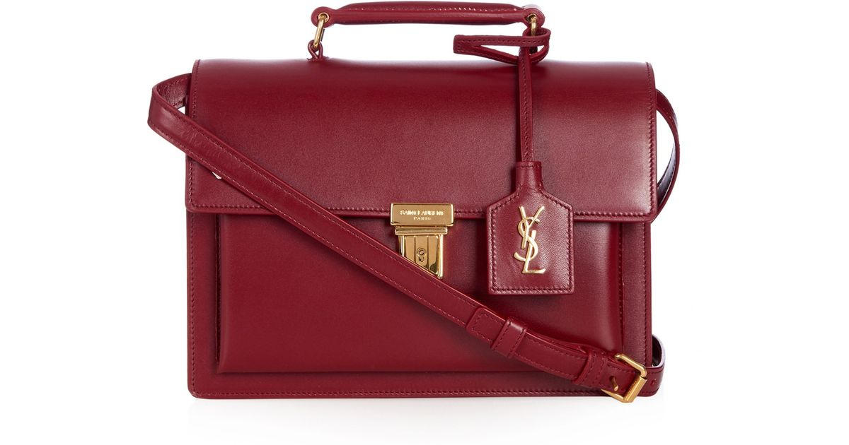 d08c2fe3f52 Saint Laurent High School Medium Leather Cross-Body Bag in Red - Lyst
