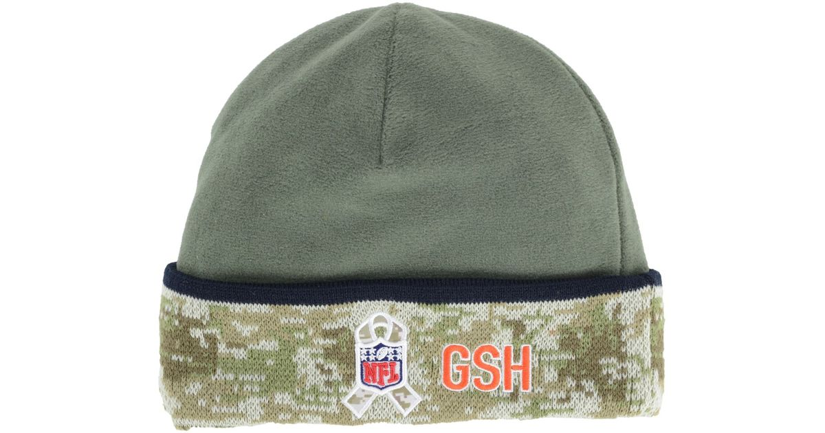 0b0d1c348ff Lyst - Ktz Chicago Bears Salute To Service Knit Hat in Green for Men