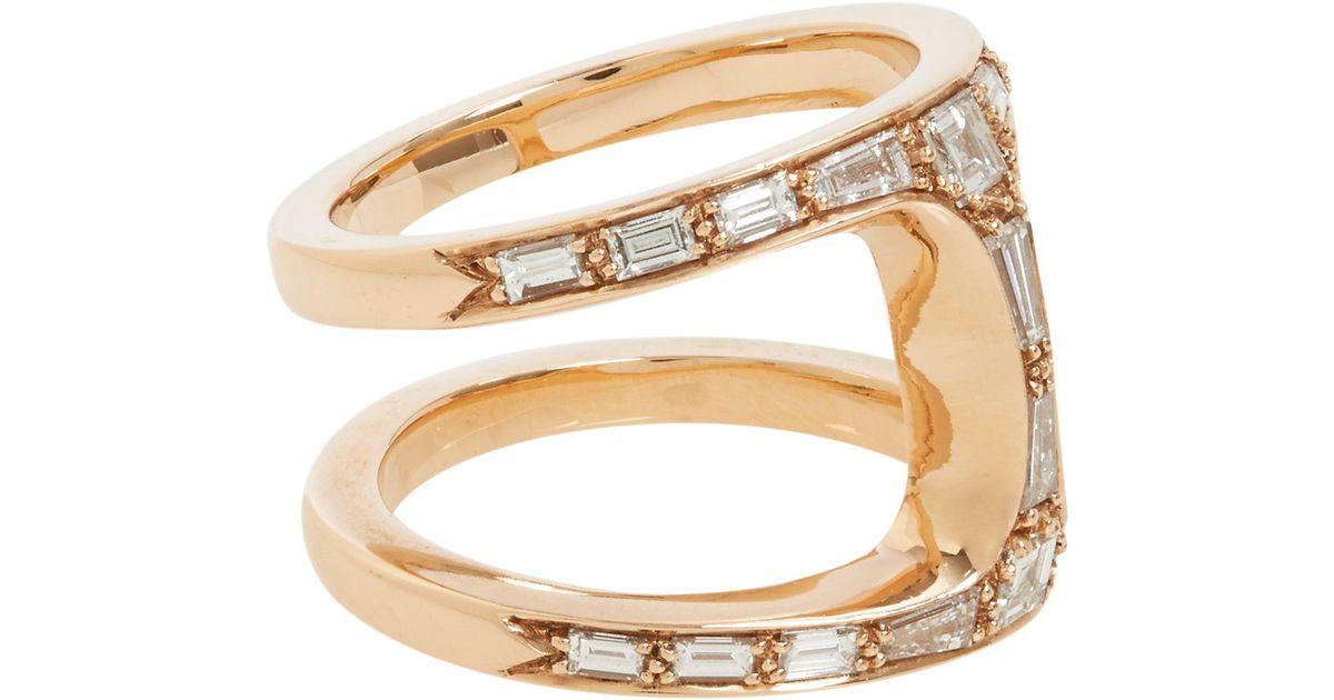 917114ed Hoorsenbuhs Diamond Rose Gold Dame Phantom Ring in Purple - Lyst